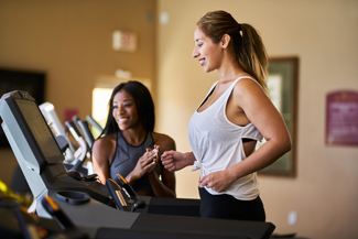 Woman runniing on treadmill